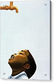 Streams In The Desert Acrylic Print by Kaaria Mucherera