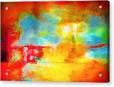 Street Abstract Acrylic Print by Tom Gowanlock