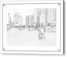 Street Activities Acrylic Print by Hussein Kefel