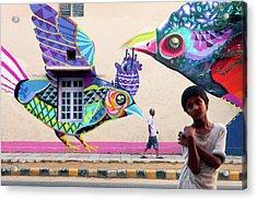 Street Art Acrylic Print by Marji Lang