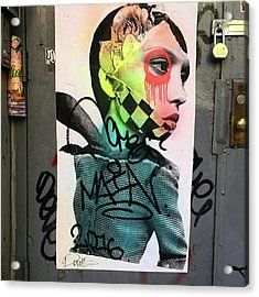 Street Art On West Broadway. #tribeca Acrylic Print by Gina Callaghan