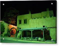 Street Building In Santa Fe Acrylic Print