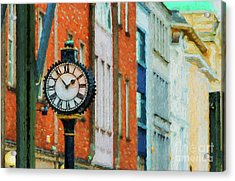 Street Clock In Cork Acrylic Print