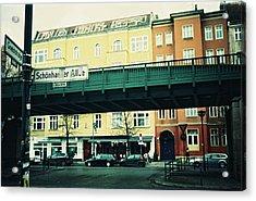 Street Cross With Elevated Railway Acrylic Print