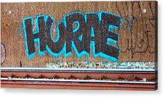 Street Graffiti-hooray Acrylic Print by Martin Cline