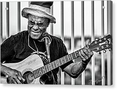 Acrylic Print featuring the photograph Street Guitarist by David A Lane