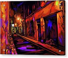 Street In Avignon, France Acrylic Print