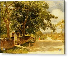 Street In Nassau Acrylic Print by Albert Bierstadt