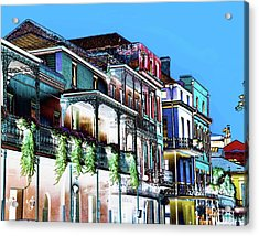 Street In New Orleans Acrylic Print