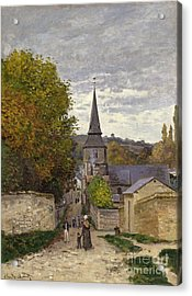 Street In Sainte Adresse Acrylic Print by Claude Monet