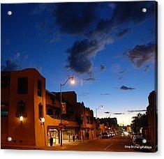 Street In Santa Fe Acrylic Print
