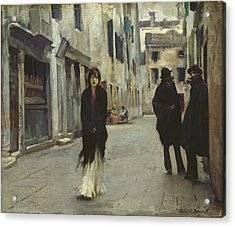 Street In Venice,  Acrylic Print by John Singer Sargent