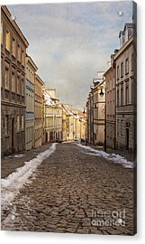 Acrylic Print featuring the photograph Street In Warsaw, Poland by Juli Scalzi