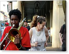 Acrylic Print featuring the photograph Street Jazz by KG Thienemann
