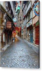 Street Le Mont Saint Michel Acrylic Print by Hugh Smith