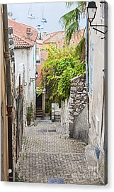 Street Leading To Sea In Villefranche-sur-mer Acrylic Print