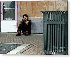 Street Level Acrylic Print by Joe Jake Pratt
