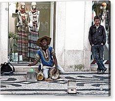 Acrylic Print featuring the photograph Street Music, Lisboa by Lorraine Devon Wilke