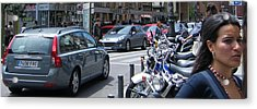 Street Life On Toledo Street - Madrid Acrylic Print by Thomas Bussmann