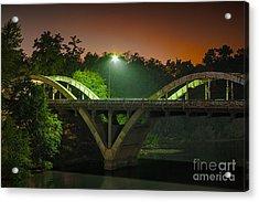 Street Light On Rogue River Bridge Acrylic Print by Jerry Cowart