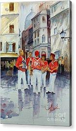 Musicisti Di Strada Italiano Acrylic Print