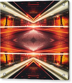 Street Night Light Xtforce-tb Acrylic Print by Philipp Rietz