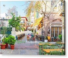 Street Of Athens, Greece Acrylic Print