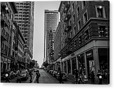 Acrylic Print featuring the photograph Street Scene, Nyc by Lora Lee Chapman