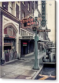 Acrylic Print featuring the photograph Street Scene Olympia by Vibert Jeffers