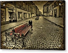 Street Seat Acrylic Print