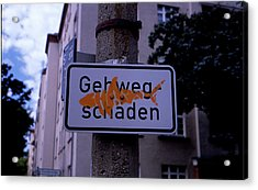 Street Sign With Graffiti Acrylic Print