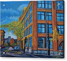 Street Study Montreal Acrylic Print by Reb Frost