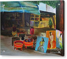 Street Vendor Acrylic Print by Jo Baby