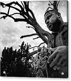 Street Vendor  #man #tree #portrait Acrylic Print