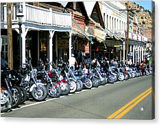 Street Vibrations In Virginia City Nevada Acrylic Print