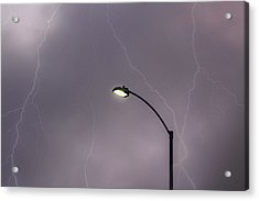 Acrylic Print featuring the photograph Streetlight by Alison Frank