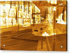 Streets And Cars  Acrylic Print by Tommytechno Sweden