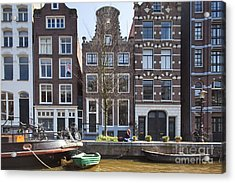 Streets And Channels Of Amsterdam Acrylic Print by Andre Goncalves