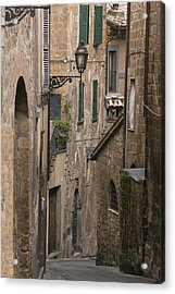 Streets Of Assisi Acrylic Print by Lynn Andrews