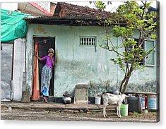 Streets Of Kochi Acrylic Print by Marion Galt