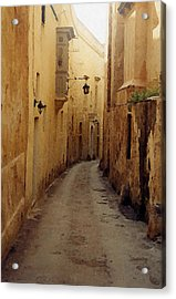 Acrylic Print featuring the photograph Streets Of Malta by Debbie Karnes