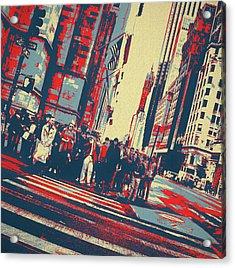 Streets Of Manhattan Acrylic Print