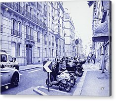 Streets Of Paris - Ballpoint Pen Art Acrylic Print