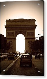 Streets Of Paris Acrylic Print by Kamil Swiatek