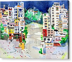 Streets Of San Francsico Acrylic Print by Mindy Newman