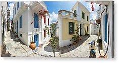 Streets Of Skopelos Acrylic Print by Evgeni Dinev