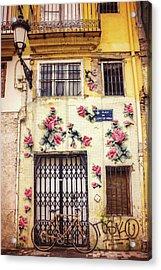 Streets Of Valencia  Acrylic Print by Carol Japp