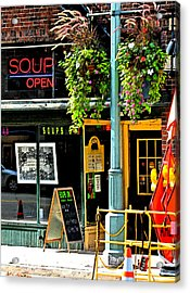 Streetscape 1 Soup Acrylic Print by Gary Everson