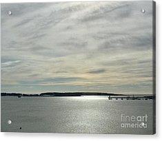 Striated Sky Over Casco Bay Acrylic Print