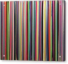 Striations Multi Acrylic Print by Margalit Romano